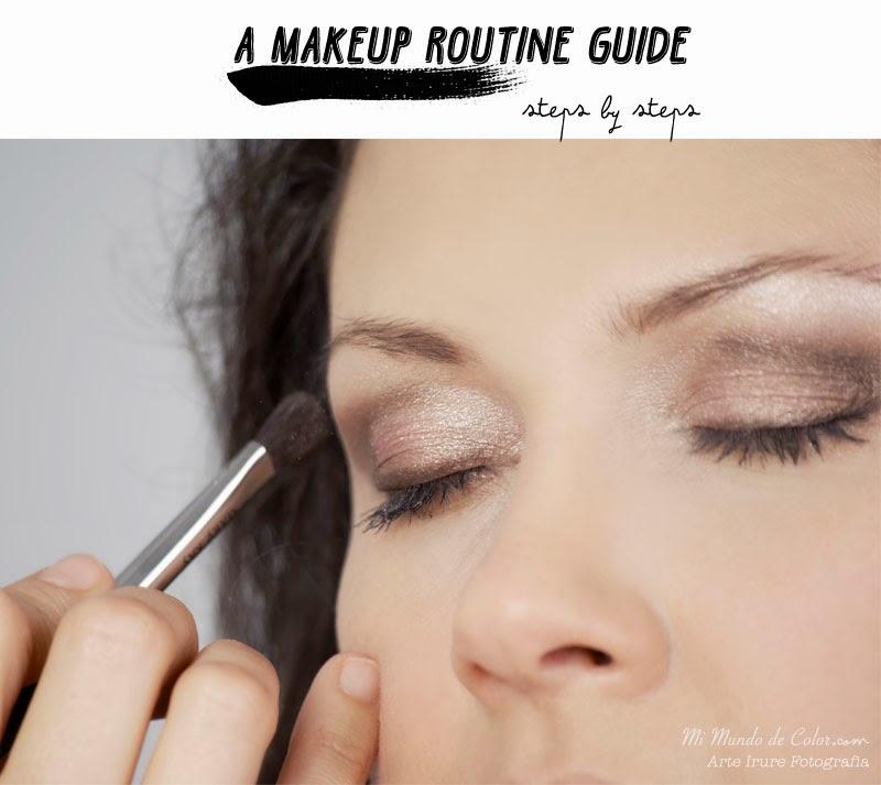 guia de una rutina de maquillaje