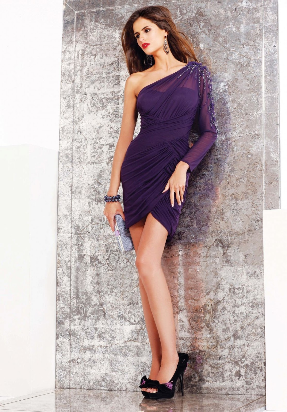 Purple Occasion Dress