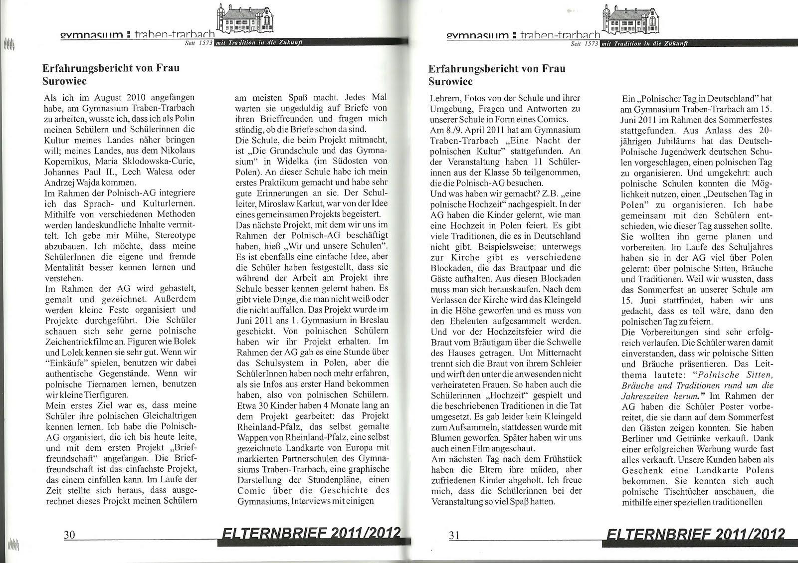 mein beitrag im elternbrief des gymnasiums traben trarbach 20112012 - Erlebniserzahlung 6 Klasse Gymnasium Beispiele