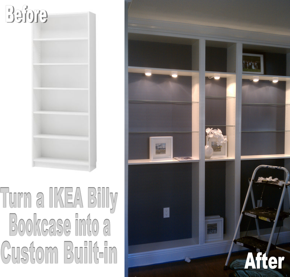 Nadias DIY Projects Turn An IKEA Billy Bookcase Into A Custom - Diy billy bookcase