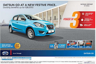 Nissan Datsun get benifits up to Rs 28000 Festive offer