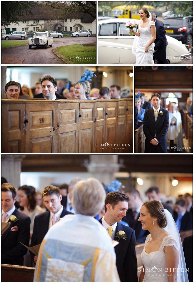 Wedding service at St Michaels Church Gittisham