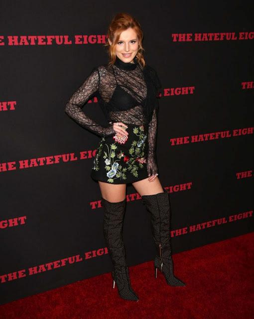Bella Thorne – 'Hateful Eight' Premiere in Los Angeles.