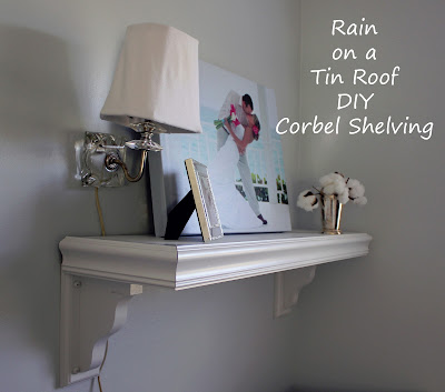 DIY Corbel Shelving {rainonatinroof.com} #DIY #Corbel #Shelving #Shelf