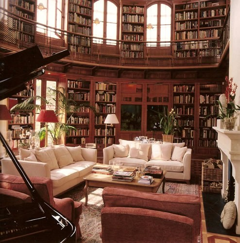 awesome home libraries