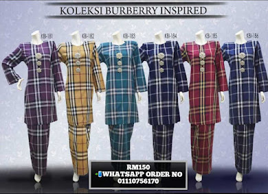 BAJU KURUNG BURBERRY INSPIRED