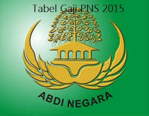 Tabel Terbaru Gaji Pns 2015 Berdasarkan Pp No 30 Thn 2015