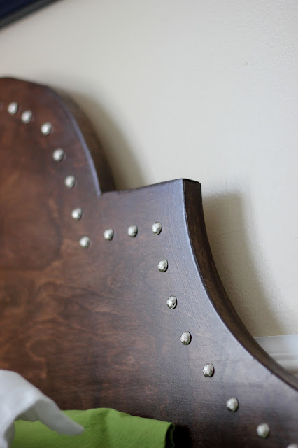 Wood and Nailhead Headboard