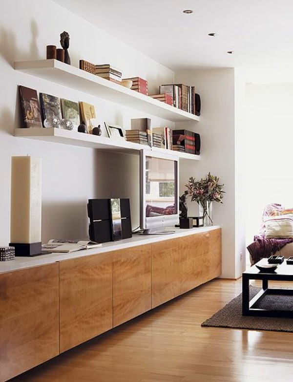 How to use modern tv wall units in living room wall decor for Modern lounge cabinets
