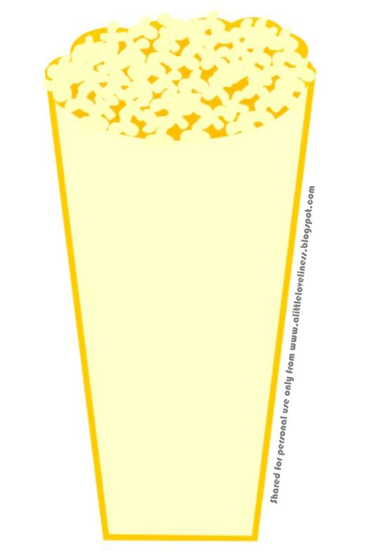 Pin popcorn box template free download on pinterest for Popcorn container template