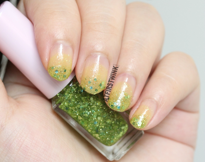 Etude House Juicy Cocktail gradation nails 8 - Lime Squash swatches
