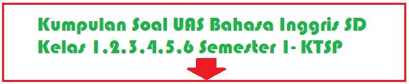 Soal Soal UAS Bahasa Inggris SD Kelas 1,2,3,4,5,6 Semester 1/Ganjil Terbaru