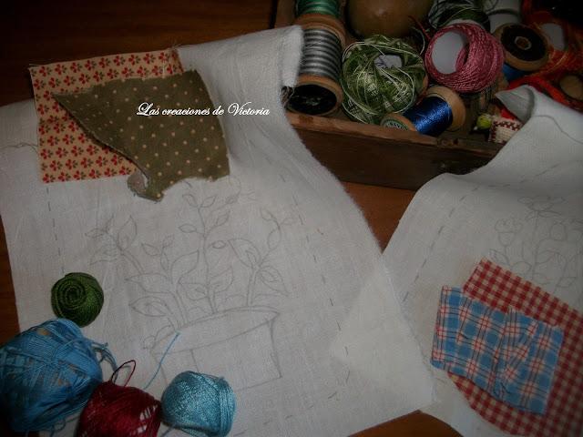 Las creaciones de Victoria.Patchwork.Colgador country
