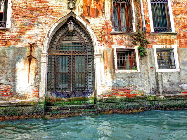 Door 4 on the canals of Venice, Italy