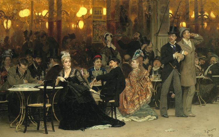 Yefimovich Repin - Parisian Cafe
