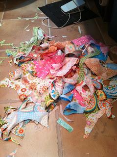 Floor of my Sewing Studio
