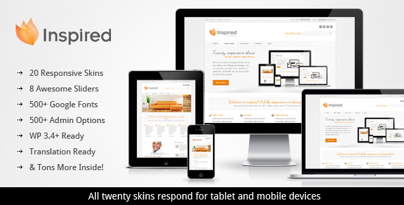 ThemeForest - Inspired Responsive Business WordPress Theme