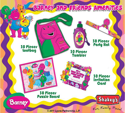 Shakeys Barney Party Package