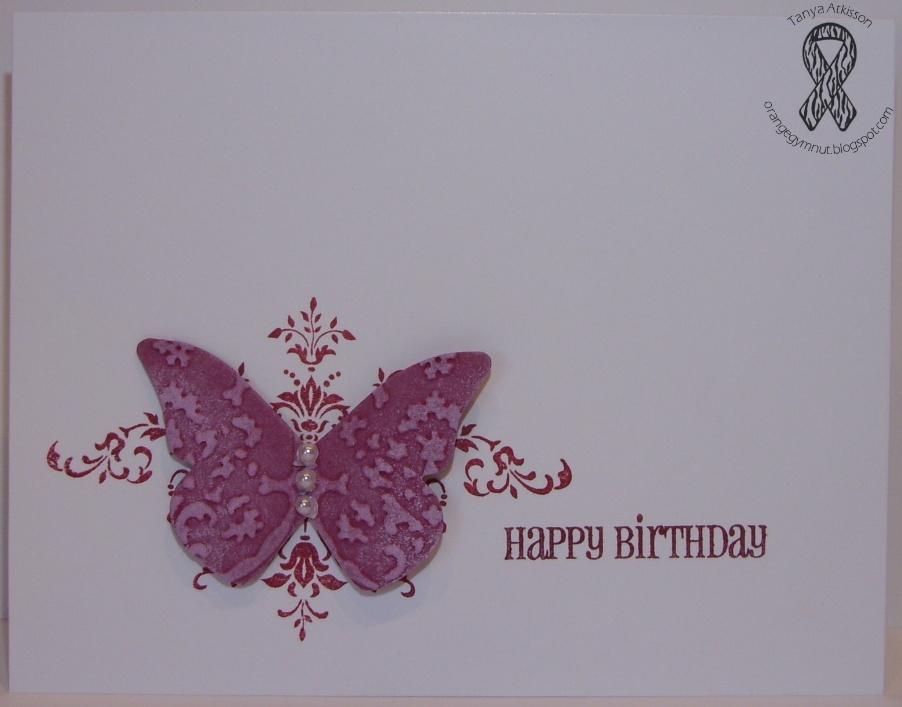 Orange Craft Cave Creations Butterfly Birthday Wishes Happy Birthday Wishes Butterfly