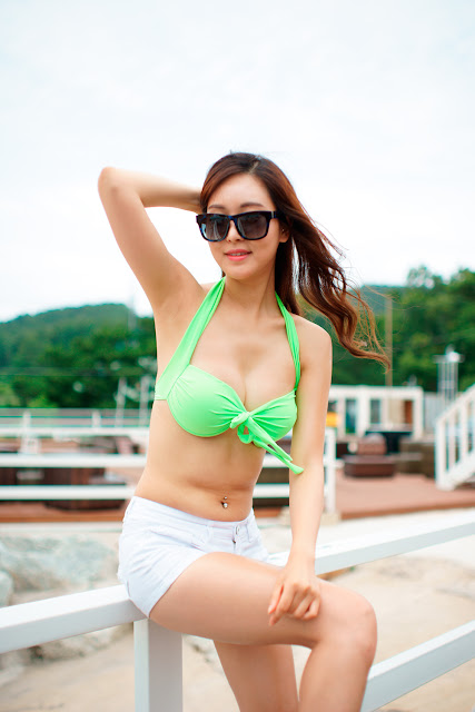5 Lee Ji Na - Tiger Beach Festival - very cute asian girl-girlcute4u.blogspot.com