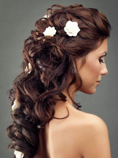 Peinados a la moda peinados de moda con rizos para for Semirecogido rizado