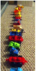 line up toy toddler activity