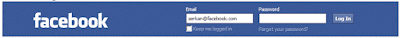 facebook login forms