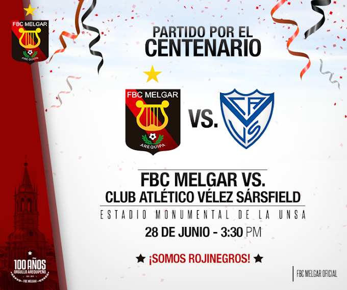 Melgar vs Velez Sarfield - 28 de junio