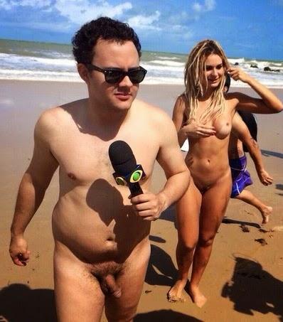 bafon gay rep rteres do p nico n s em praia de nudismo
