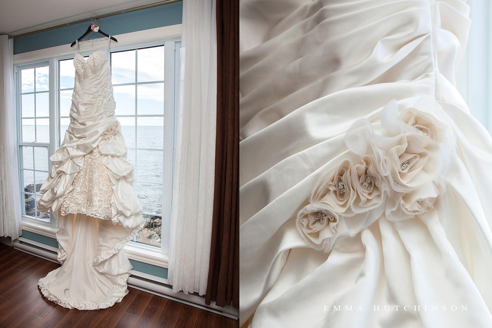 Weddings in Tilting, Fogo Island - photograph of wedding dress