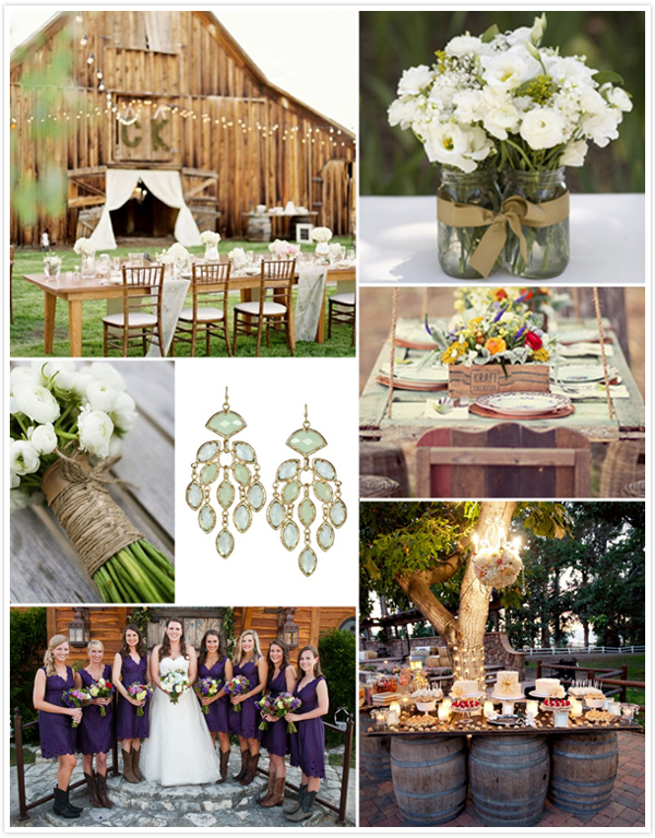 Rustic Backyard Wedding Reception Ideas : Rustic country style