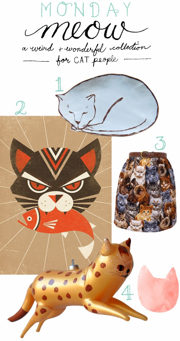 Monday Meow - a weird and wonderful collection of cat themed products for cat people