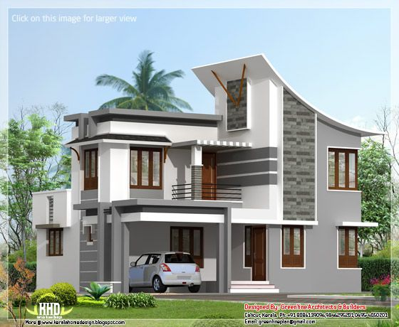 Modern 3 Bedroom House on flat roof modern house plans one story
