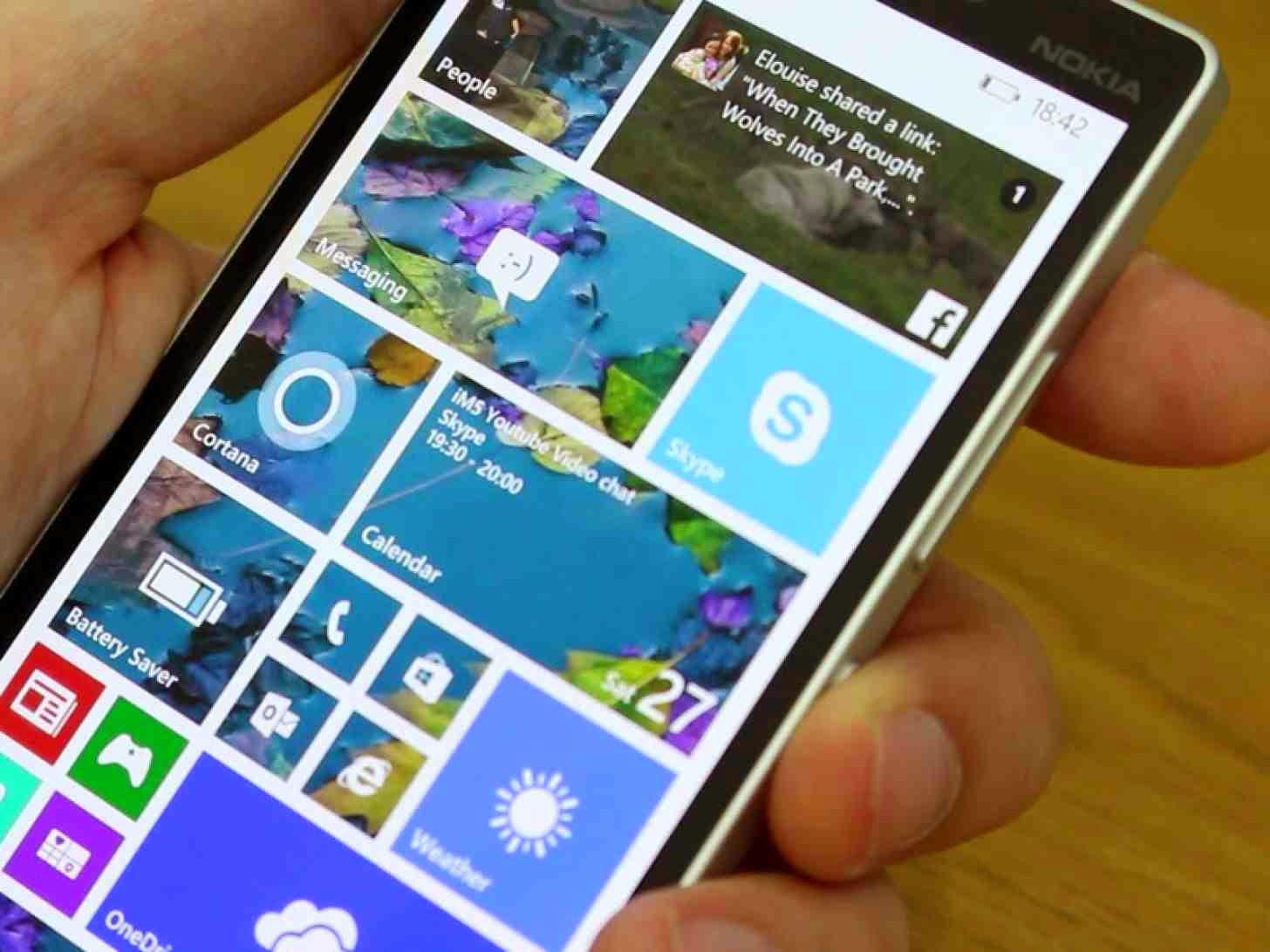 الخبير صورة الإصدار التجريبي من ويندوز 10 هاتف مايكروسوفت لوميا