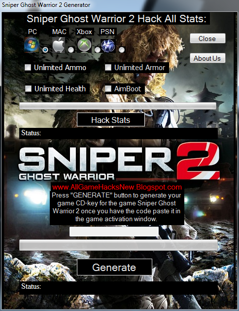 Sniper Ghost Warrior 2 Generator-Hack Stats