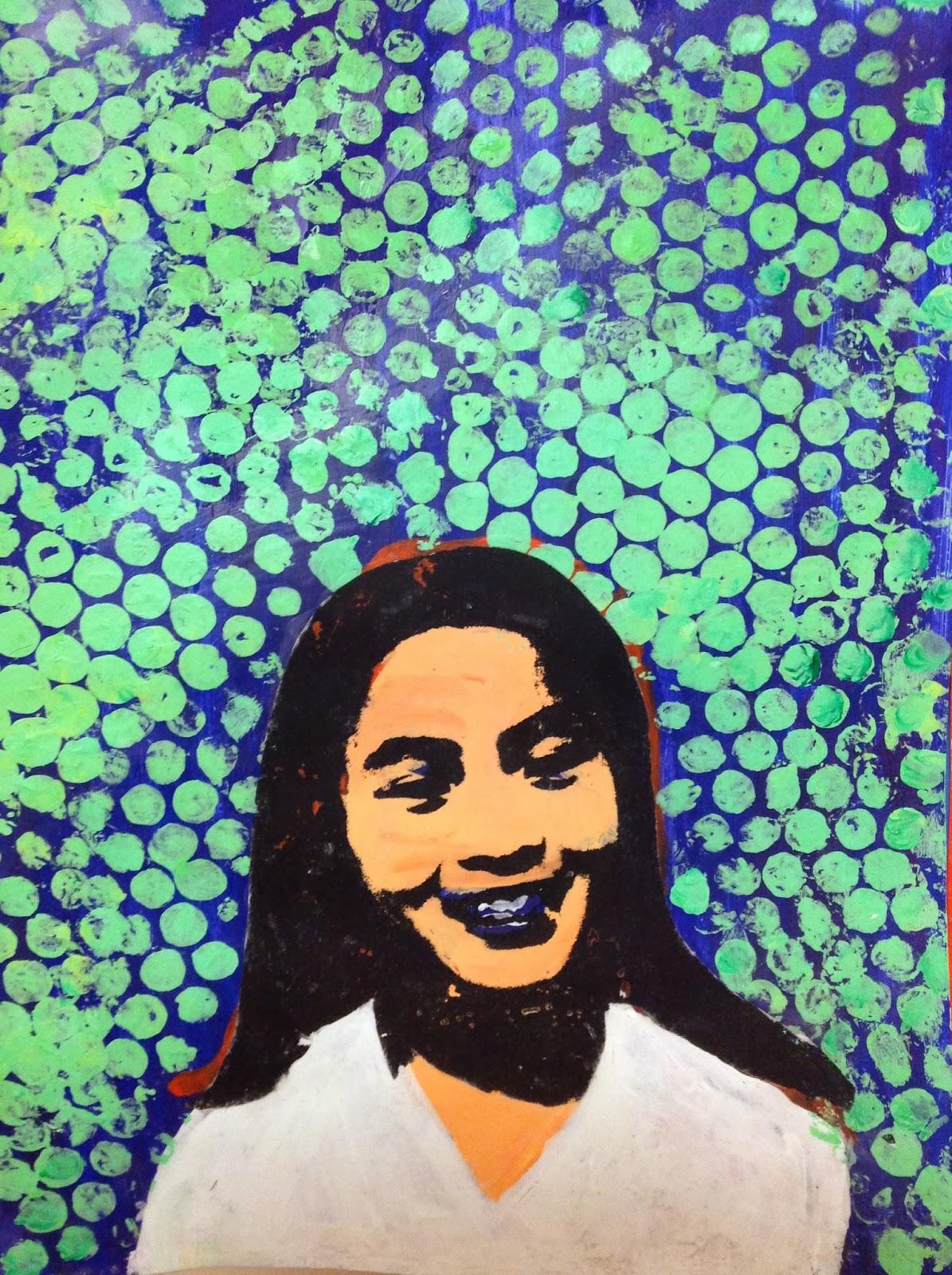 6th Grade Pop Art Portrait Inspired by Roy Lichtenstein