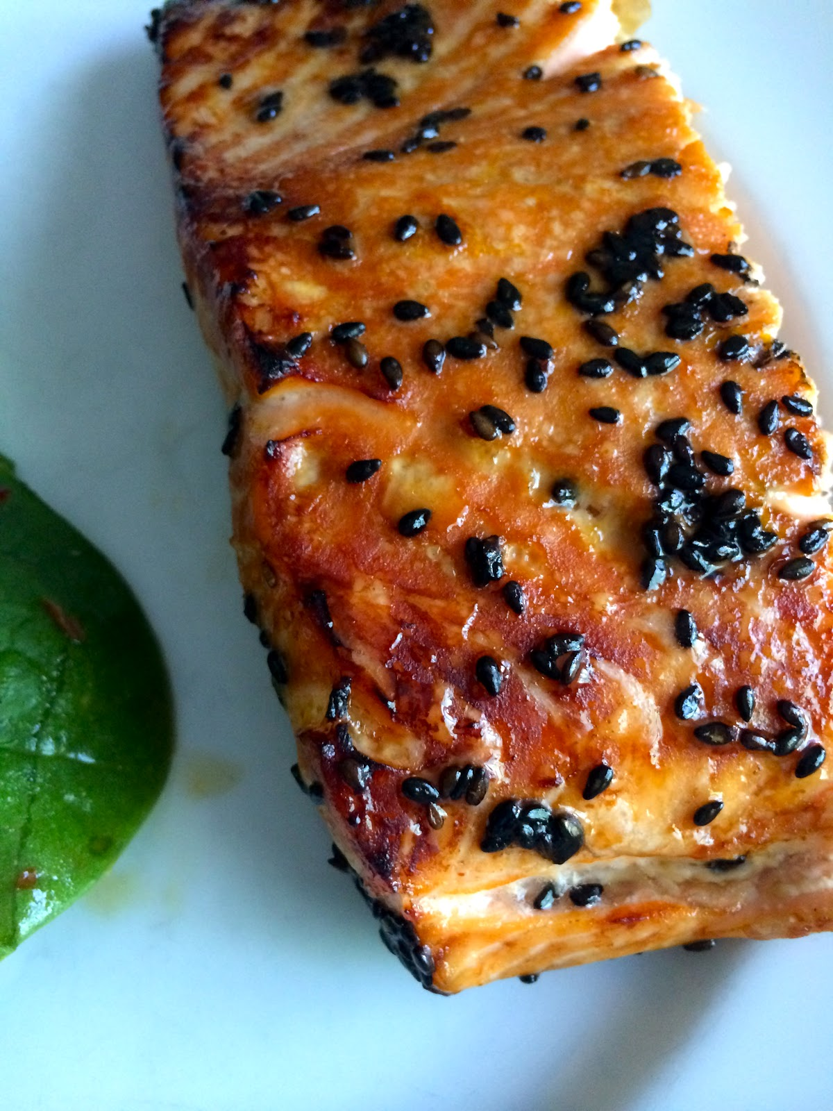 Honey-Sesame Glazed Salmon