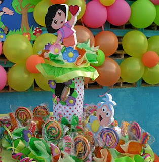Children's Parties Decoration Dora the Explorer, centerpieces