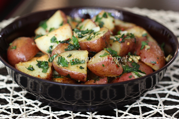 My Kitchen Snippets: Oven Roasted Potato with Garlic Herbs