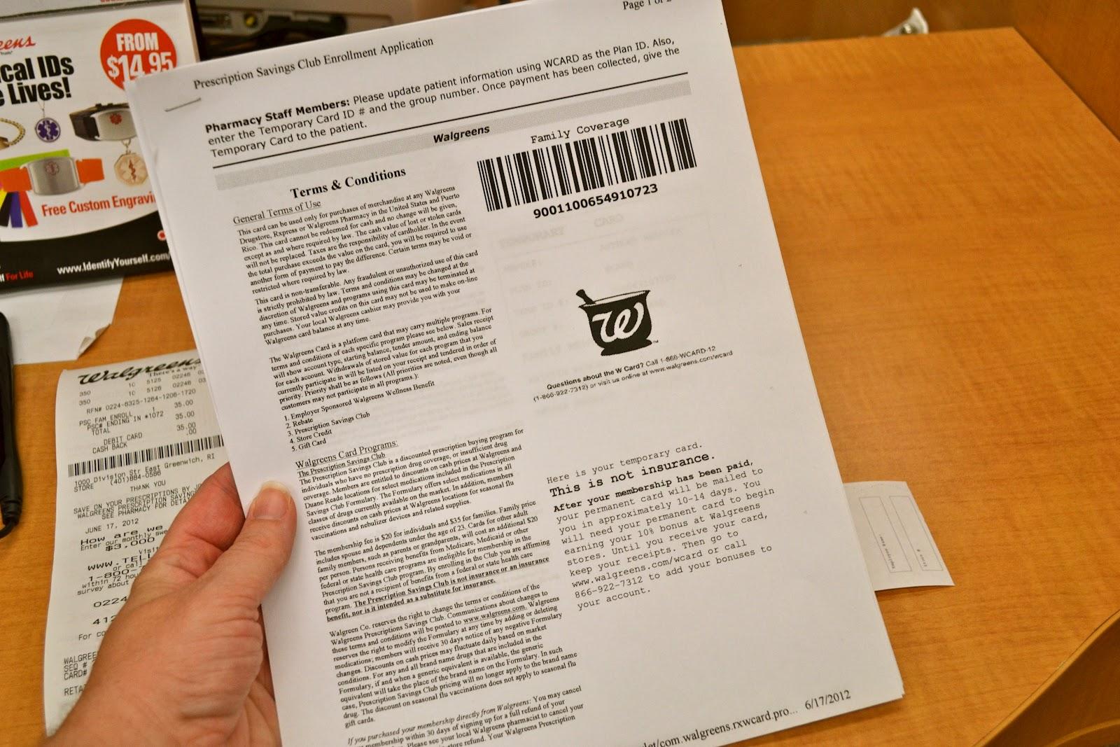 walgreens prescription savings plan - Walgreens Prescription Card