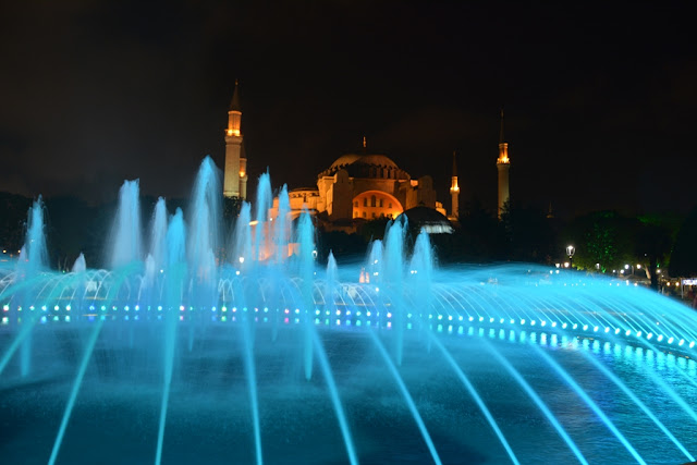 Blue Mosque by night