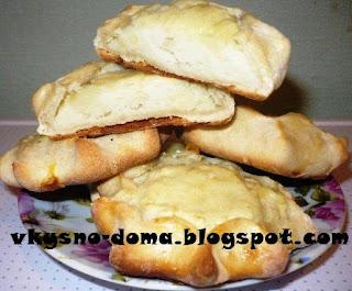 Шанежки с картофелем (калитки). Русская кухня.