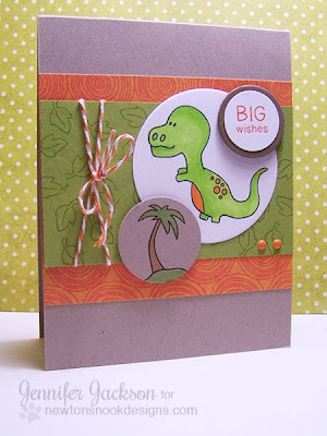 T-Rex Dinosaur Card by Newton's Nook Designs