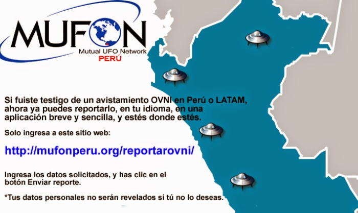 REPORTA AQUÍ ALGÚN AVISTAMIENTO OVNI EN LATINOAMERICA
