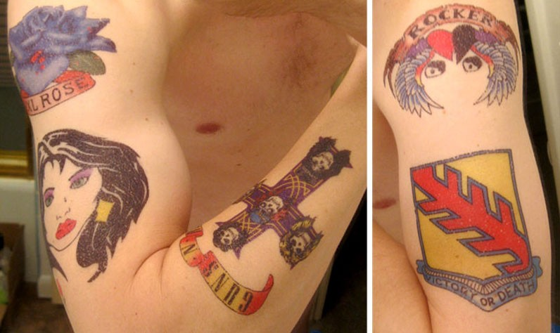 Full wallpaper guns n roses tattoos for Guns n roses tattoos