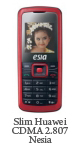 Spesifikasi Slim Huawei CDMA 2.807 Nesia