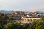 . on which lies the ancient city of Cordoba, founded by the Romans, . roman bridge cordoba spain