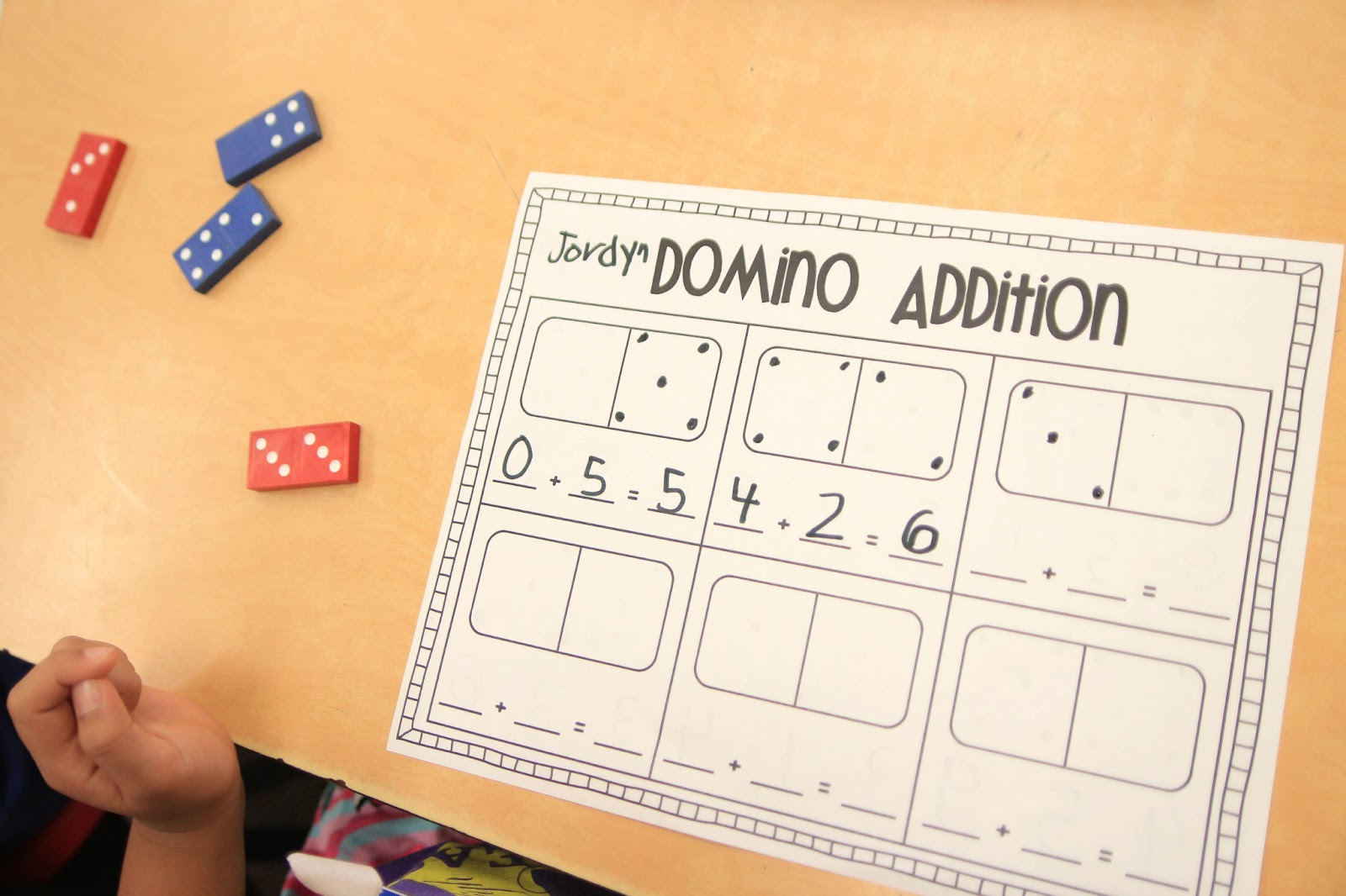 Mrs Riccas Kindergarten Fun with Addition Freebies – Dominoes Math Worksheets