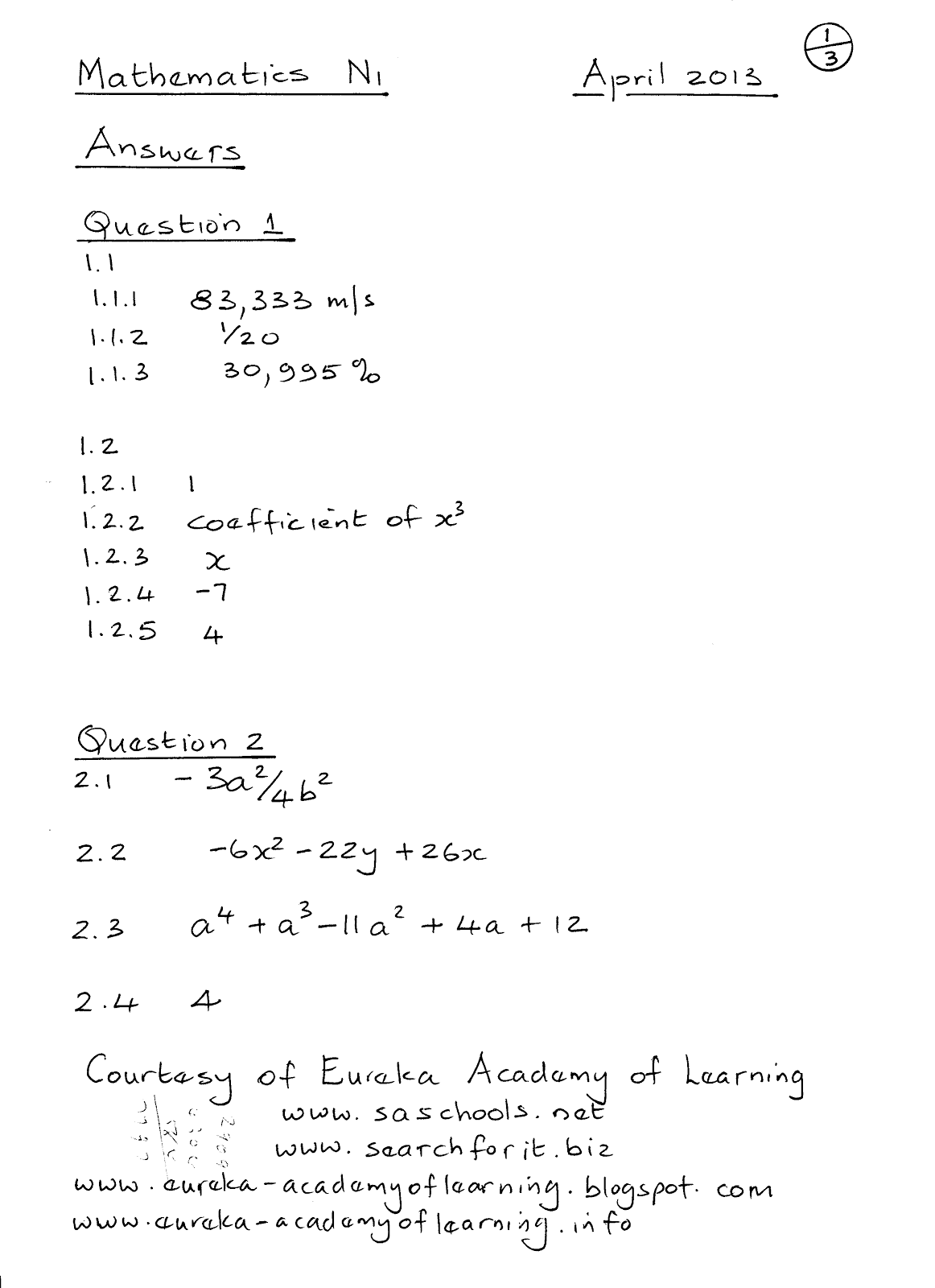 mathematics n1 question papers google share the knownledge