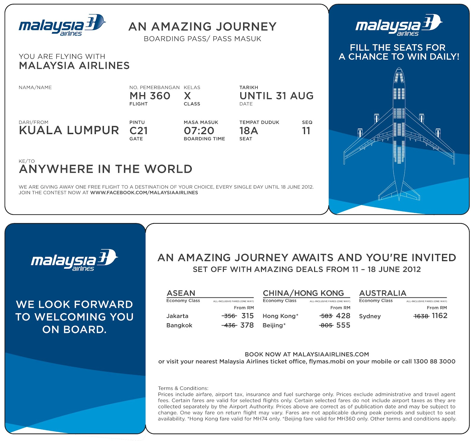 airline ticket template word